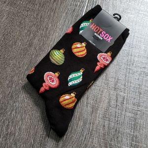 """Hot Sox """"Ornaments"""" Crew Socks"""